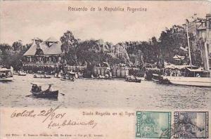 Recuerdo de la Republica Argentina Diade Regatas en el Tigre