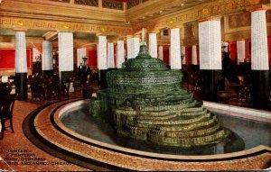Illinois Chicago Congress Hotel and Annex Fountain In Pompeiian Room 1913
