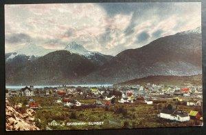 Mint Alaska USA Picture Postcard PPC A Skagway Sunset