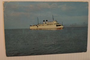 VTG Postcard 1951 SS City of Petoskey Michigan State auto ferry ship boat   611