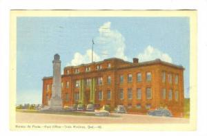 Bureau de Poste , Trois Rivieres, Quebec , Canada , PU-1947