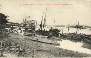CPA Vietnam Indochine - Cochinchine - Saigon - Batellerie indigéne et (94801)