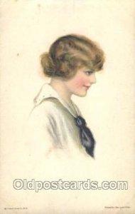 Alice Luella Fidler (USA) Artist Signed Postcard Postcards American Girl No. ...