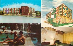 Des Moines Iowa~National Motor Inns Motel~921 6th Ave~Pool~Guest Room~1970s PC