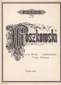 Moszkowski Love Waltz Opus 57 No 5 1950s Classical Piano Sheet Music