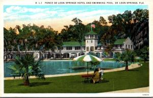 Florida De Leon Springs Ponce De Leon Springs Hotel and Swimming Pool Curteich