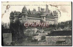 Old Postcard Environs de Villers Cotterets The castle of Pierrefonds View fro...