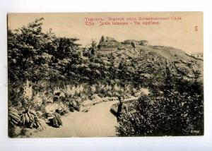 236593 GEORGIA TIFLIS Botanical garden on top Vintage postcard