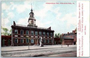 Philadelphia PA Advertising Postcard PURITAN Children Clothing Independence Hall