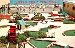 Delaware Greetings From Rehoboth Beach Showing Boardwalk and Miniature Golf C...