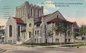 Baptist Church,Linwood & park, Kansas City , Missouri , PU-1914