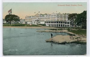 Griswold Hotel Groton Connecticut 1910c postcard