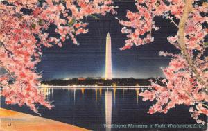 D.C. Washington, Washington Monument at Night, nuit, nacht 1951
