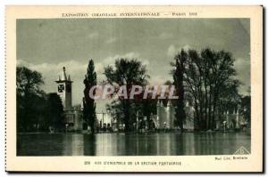 Old Postcard International Colonial Exposition Paris 1931 View A Set Of The P...
