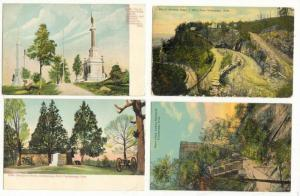 4 postcards, Lookout Mountain, Chattanooga, Tennessee, 00-10s