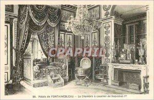 Postcard Old Palace of Fontainebleau the House Sunset Napoleon 1st