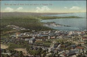Panama City Nice Birdseye View Hotel Tivoli & Bay c1910 Postcard