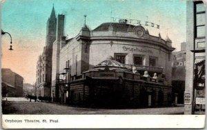 ST. PAUL, Minnesota Postcard ORPHEUM THEATRE Street View / 1909 ND Cancel