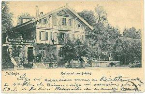 Ansichtskarten Schweiz VINTAGE POSTCARD SWITZERLAND - ZOLLIKOFEN 1902 RESTAURANT