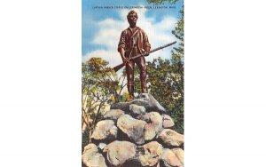 Captain Parkers Statue on Lexington Green Massachusetts Postcard