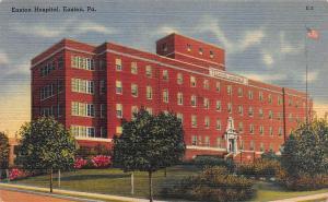 Easton Hospital, Easton, Pennsylvania, Early Linen Postcard, Unused