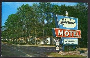 Florida TALLAHASSEE Lakeshore Motel on U.S. 27 North 1965 - Chrome