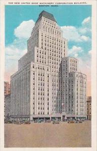 Massachusetts Boston The New United Shoe Machinery Corporation Building 1930