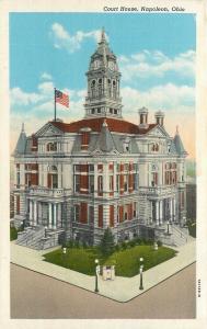 Napoleon Ohio~Henry County Court House~Second Empire Style~1930s Linen PC
