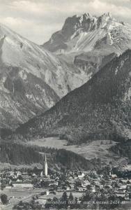Germany Obersdorf panorama mit Kratzer mountain peak