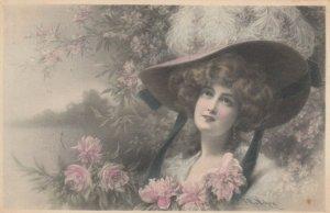 M.M.VIENNE : Female Head Portrait by Wichera , 1909 , #5