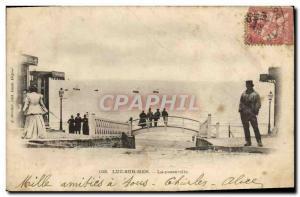 Old Postcard Luke on the bridge sea
