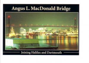 Night Lights on Angus L MacDonald Bridge, Dartmouth Halifax Nova Scotia, Phot...