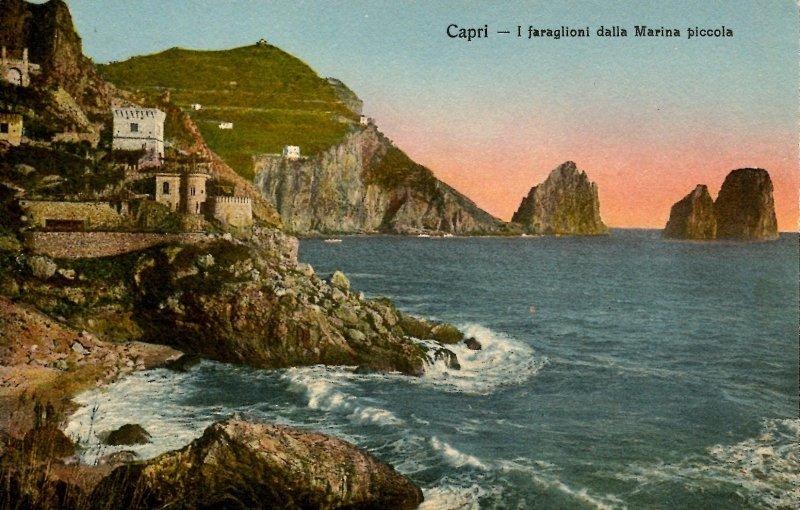 Italy - Capri. Faraglioni Island from the Marina