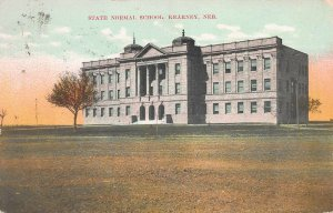 State Normal School, Kearney, Nebraska, Early Postcard, Used in 1909