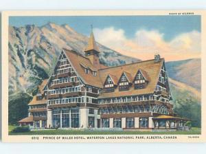 Unused Linen HOTEL SCENE Waterton Park - Near Lethbridge Alberta AB B1213