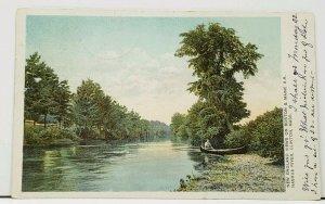 MA New England Views on Boston & Maine RR Nashua River Clinton 1906 Postcard I13