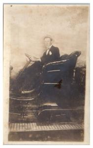 Studio RPPC Dandy in Early Auto Real Photo Postcard