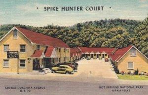 HOT SPRINGS NATIONAL PARK, Arkansas, 1930-40s; Spike Hunter Court, U.S. 70