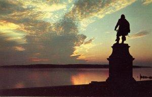 VA - Jamestown. Capt. John Smith Statue at Sunset