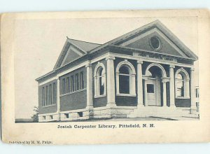 Pre-1907 LIBRARY SCENE Pittsfield New Hampshire NH AF1878