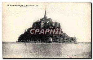 Old Postcard Mont St Michel View taken in the North