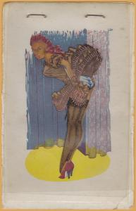 Dancing Girl, flip up glassine layers to undress the girl - c1945 S. S. Adams