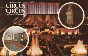 Nevada Las Vegas Circus Circus Hotel Casino At Night