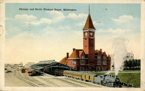 WI - Milwaukee. Chicago & North Western Railroad Depot  (tear)