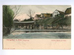 156043 Czech Republic Koniginhof a. Elbe Vintage 1901 postcard
