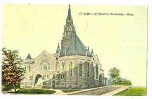 Baptist Church , Worcester , Massachusetts , PU-1911