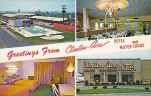 Greetings From Clinton Aire Hotel And Motor Lodge With Pool Buffalo New York