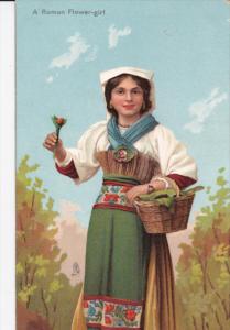 ROME , Italy , 00-10s ; A Roman Flower-girl ; TUCK