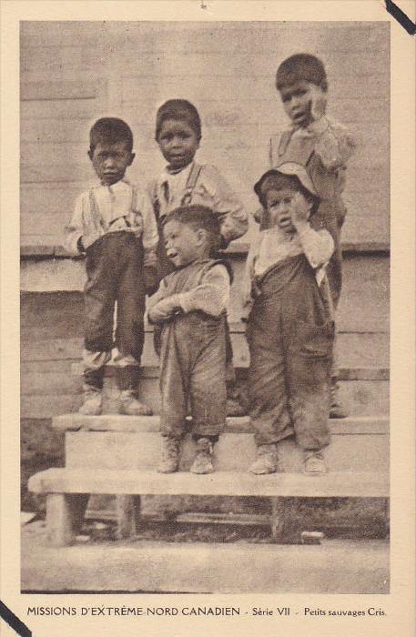 Eskimo Indians , Canada , 1910s : Petits sauvages Cris #3