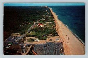 Cape Cod MA, Ocean Beach, Aerial View, Chrome Massachusetts c1968 Postcard